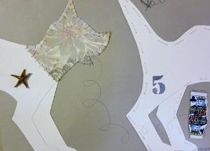 """5, 9"""" x 12"""", 2001, mixed media"""