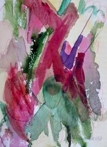 """Berry, 10"""" x 7"""", 2002"""