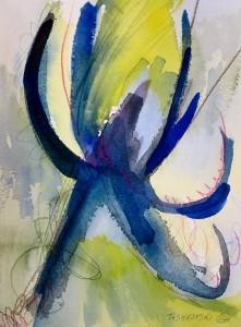 """Blue Star, 10"""" x 7"""", 2002"""
