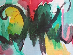 """Bouquet, 7"""" x 10"""", 2002"""