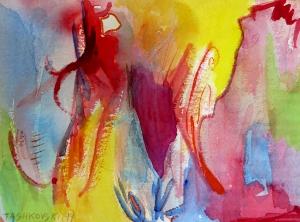 """Cherry Vine, 7"""" x 10"""", 1999"""