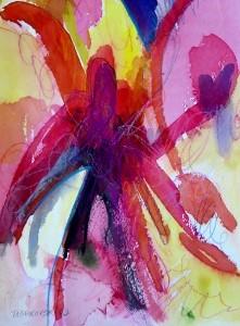 "Dahlia, 10"" x 7"", 2002"