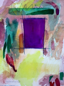 """Doorway, 12"""" x 9"""", 2002"""