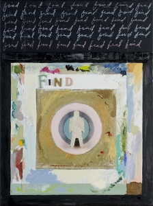 "Find, 18"" x 24"", 2008, mixed media"