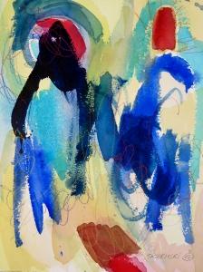 """Gesture, 12"""" x 9"""", 2002"""