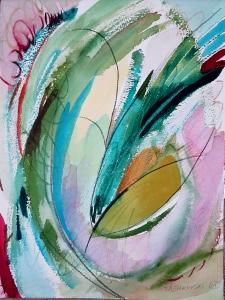 """Grassland, 12"""" x 9"""", 2001"""