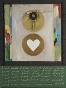 "Heart, 18"" x 24"", 2008, mixed media"