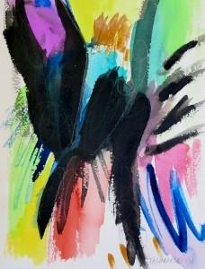 """Inky, 10"""" x 7"""", 2001"""