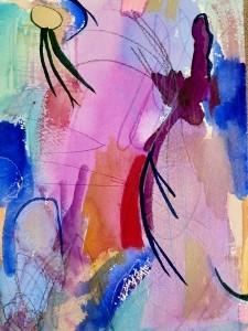 """Lilacs, 10"""" x 7"""", 2001"""