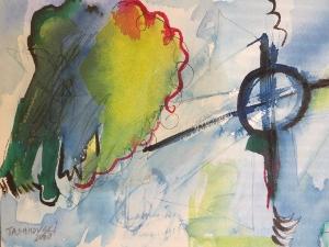 """Sky, 7"""" x 10"""", 2000"""