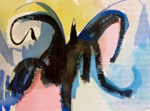 """Spider, 7"""" x 10"""", 2002"""