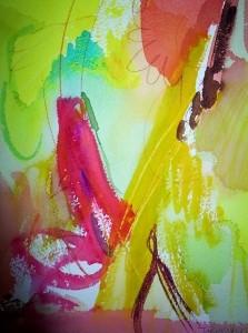 """Sunshine, 10"""" x 7"""", 2001"""