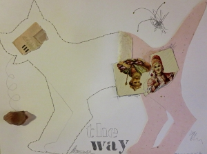 "The Way, 9"" x 12"", 2001, mixed media"