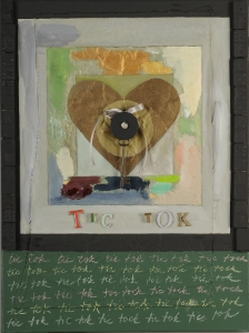 "Tic Tok, 18"" x 24"", 2008, mixed media"