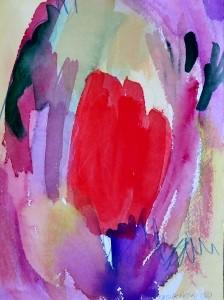 """Tulip, 10"""" x 7"""", 2002"""