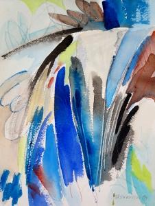 """Waterway, 12"""" x 9"""", 2001"""