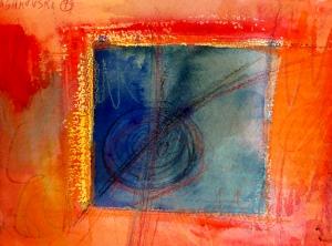 "Window, 7"" x 10"", 1999"