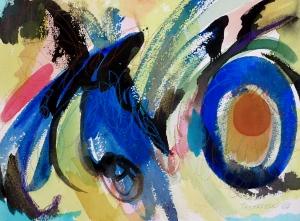 """X-O, 9"""" x 12"""", 2002"""