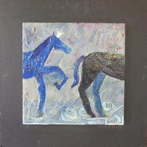 """Indigo, 18"""" x 18"""", 2012, $125"""