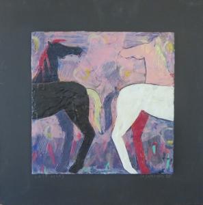 """Last Licks, 18"""" x 18"""", 2012, encaustic, $125"""