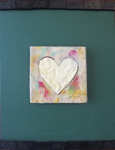 "Milk Heart, 11"" x 14"", 2012, $75"