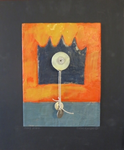 "Navy King, 18"" x 15"", 2012, encaustic, $125"