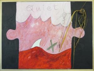 """Karen Tashkovski, Quiet, 18"""" x 24"""", 1998, $200"""