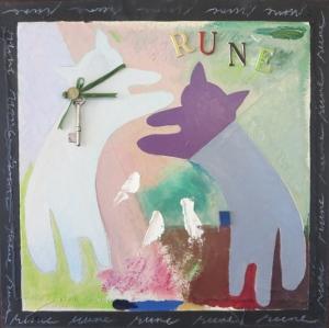 "Rune-5, 18"" x 18"", 2005, mixed media"