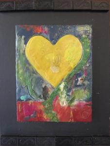 Encaustic Hearts