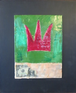 "The Lucky One, 18"" x 15"", 2012, encaustic, $125"