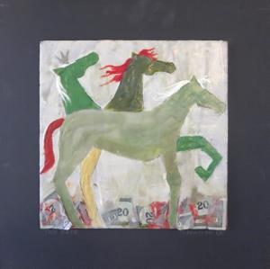 Encaustic Horses