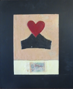 "Valentina, 18"" x 15"", 2012, encaustic, $125"