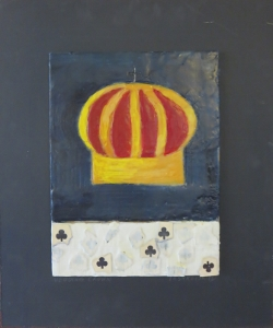"Wedding Crown, 18"" x 15"", 2012, encaustic, $125"