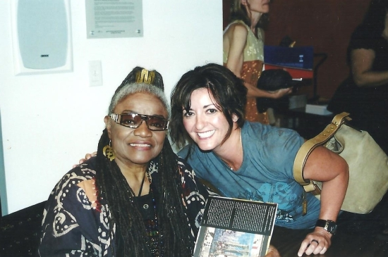 Faith Ringgold and me 001
