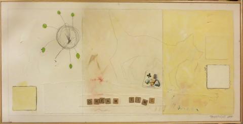 Karen Tashkovski, Dreamtime, 2000, oil & collage $500