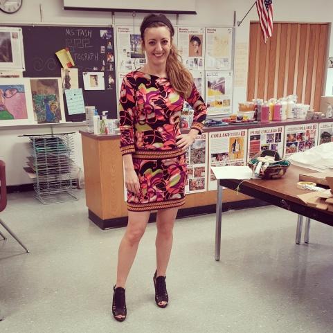 Trina Turk dress, BCBG Generation sadals