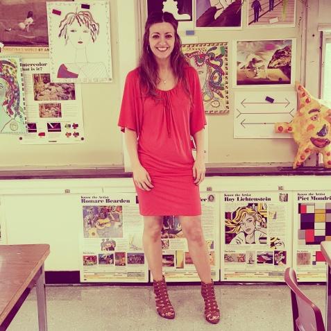 Trina Turk dress, BCBG Generation sandals