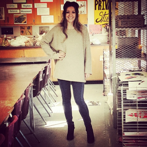 Black Brown 1826 cashmere sweater, BCBG Max Azria leggings, ine West booties