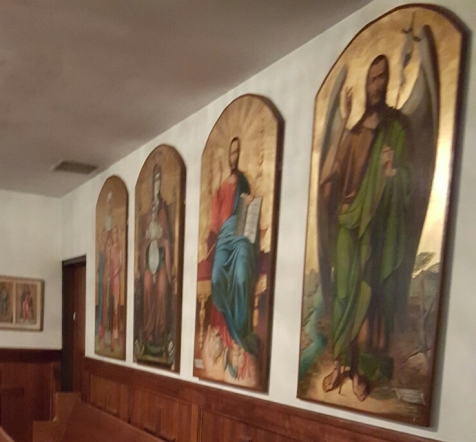 Icons painted by Mrs. Smith at St. Sophia's Greek Orthodox Church