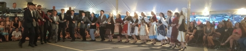 Greek dancers perform for the crowd at St. Sophia's Greek Fest, Dewitt, NY