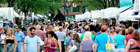 downtown Syracuse arts and crafts fest