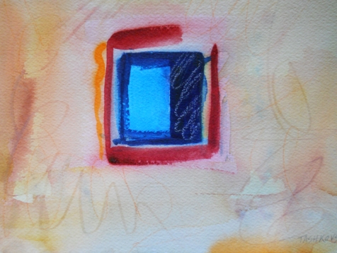 "Secrets, 7"" x 10"", watercolor, 2001, $50"
