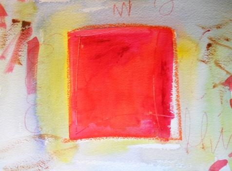 "Isolation, 7"" x 10"", watercolor, 2000, $50"