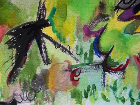 "Mark, 7"" x 10"", watercolor, 1999, $50"