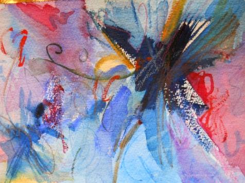 "Blown Away, 7"" x 10"", watercolor, 1999, $50"