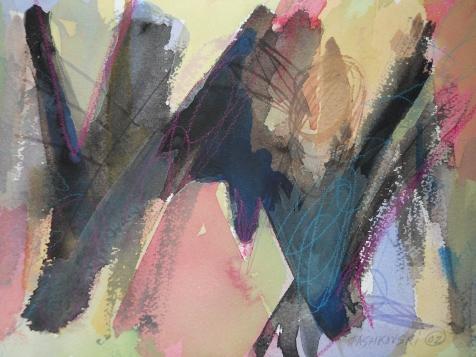 "Rosey, 7"" x 10"", watercolor, 2002, $50"
