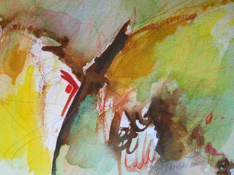 "Canyon, 7"" x 10"", watercolor, 2000, $50"