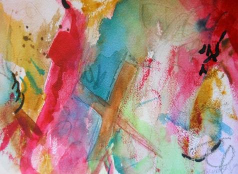 "Treasure, 7"" x 10"", watercolor, 2000, $50"