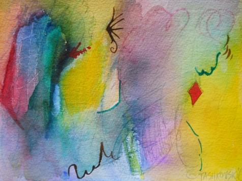 "Depth of Character, 7"" x 10"", watercolor, 1999, $50"