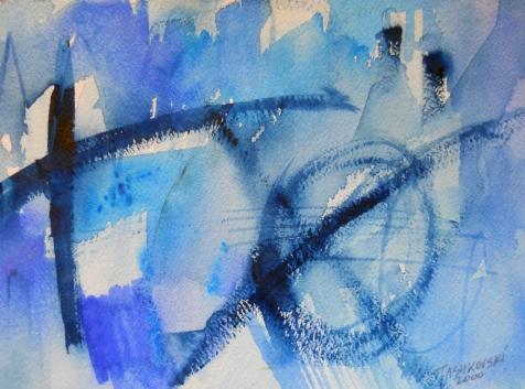 """Mandala, 7"""" x 10"""", watercolor, 2000, $50"""